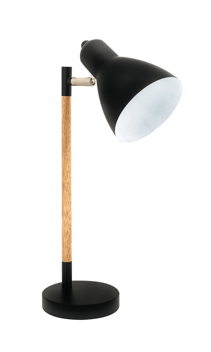 elevenpast table lamp Ludlow Desk Lamp Black and Wood