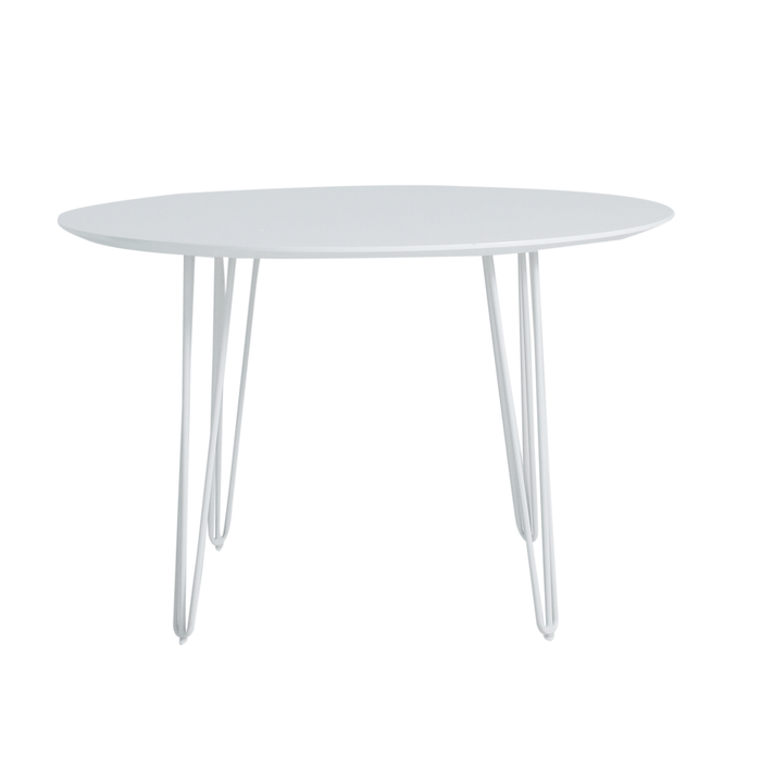 elevenpast Tables 1200D / White Top/White Legs Allegra Dining Table Round