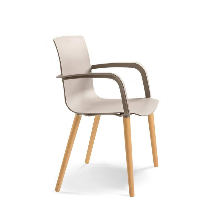 elevenpast Taupe / Natural Lags Koda Timber Arm Chair