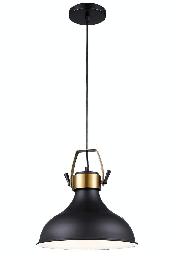 elevenpast Urban Dome Pendant Gold and Matt Black