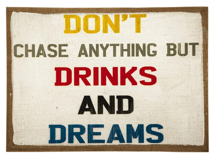 Canvas Print Drink and Dreams - elevenpast