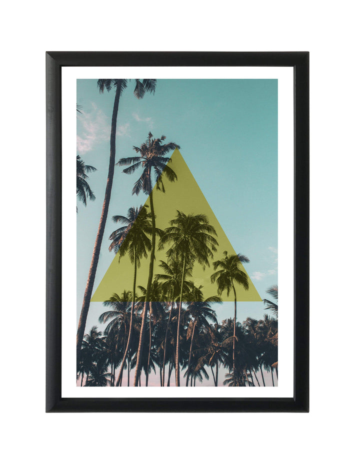 elevenpast Wall art Framed Print - Palm Tree  Triangle