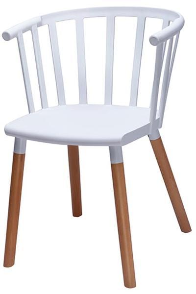 elevenpast White Cafe Armchair