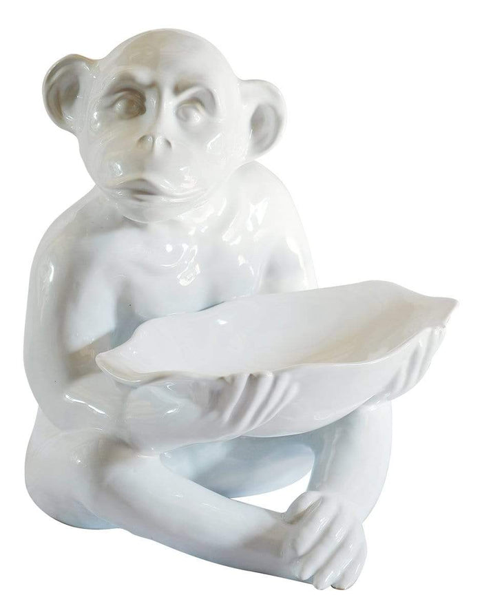 elevenpast White Ceramic Monkey Oversized