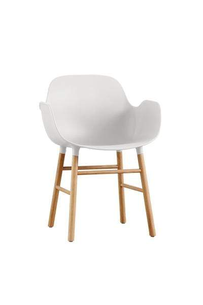 elevenpast White Contemporary Armchair