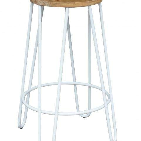 elevenpast White Hairpin Kitchen Stool