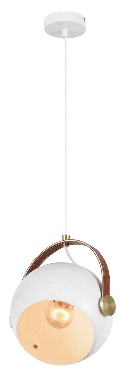 elevenpast White Harry Ball Pendant