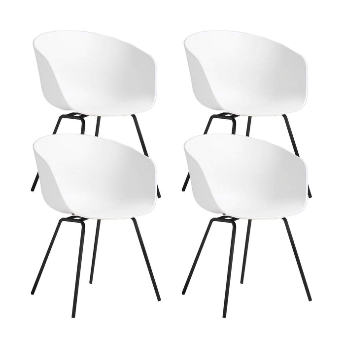 elevenpast White Replica Hay Chair Metal Frame Set of 4