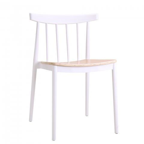 elevenpast White Tokyo Wood Seat Cafe Chair