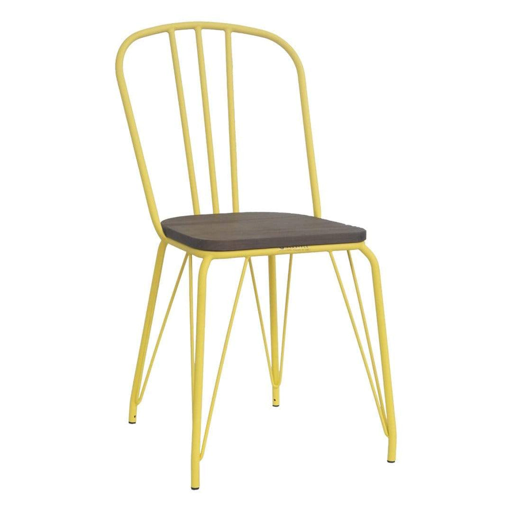 elevenpast Yellow Hairpin Wood Chair