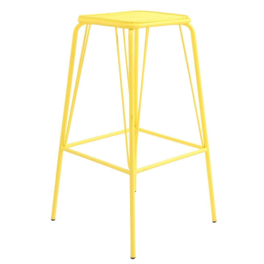 elevenpast Yellow Replica Wire Barstool