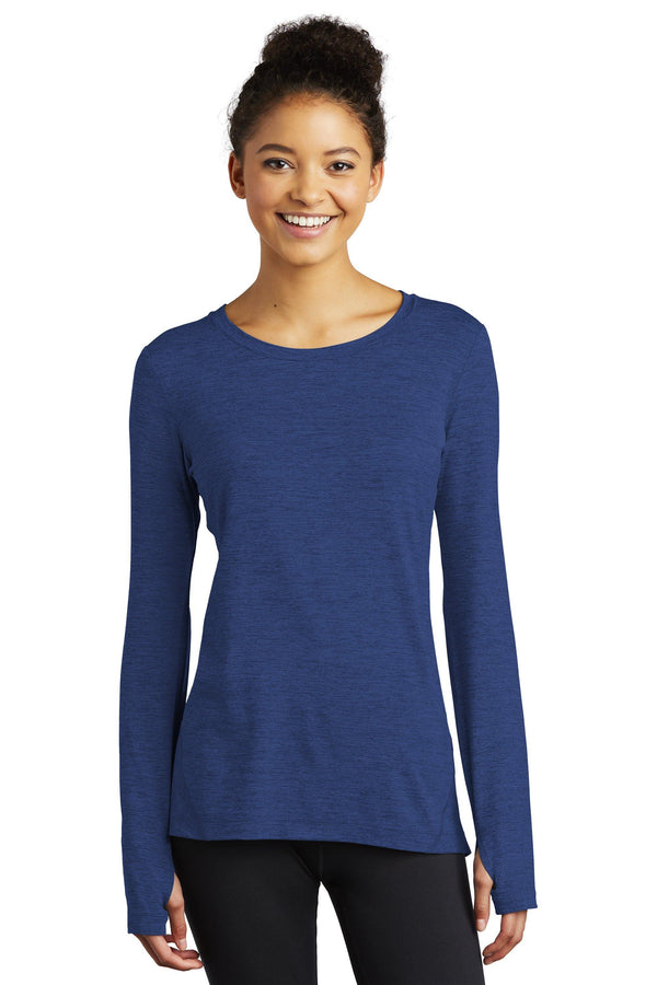 Sport-Tek® Ladies Stretchable Crew  1.5 Long Sleeve