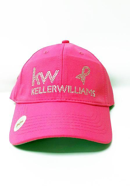 Think Pink KW Pink Bling Cap with Awareness Ribbon