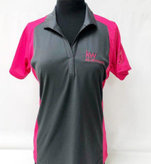Think Pink ST® Ladies Colorblock Micropique Sport-Wick® Polo