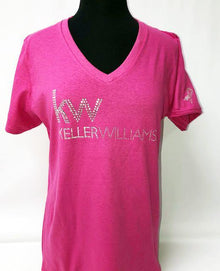 Think Pink KW logo in Bling - Subtle Awareness Ribbon