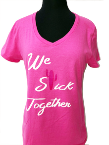 Think Pink We Stick Together - Subtle Awareness Ribbon