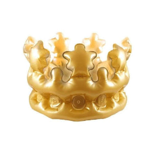 33.5cm inflatable gold crown - Party Props
