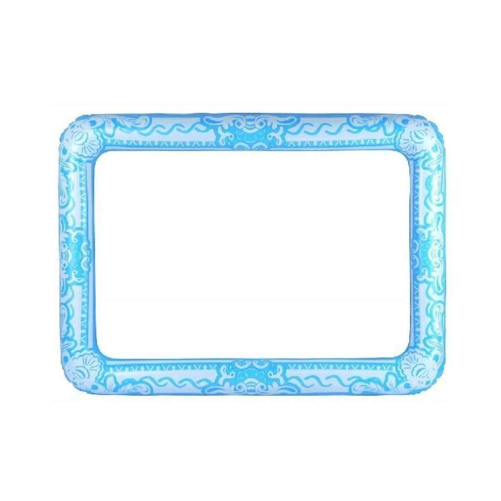 60 cm x 80cm inflatable blue frame - Party Props