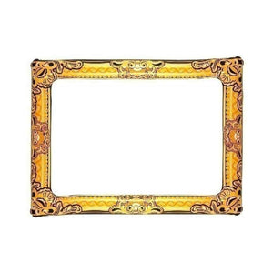 60 cm x 80cm inflatable gold frame - Party Props