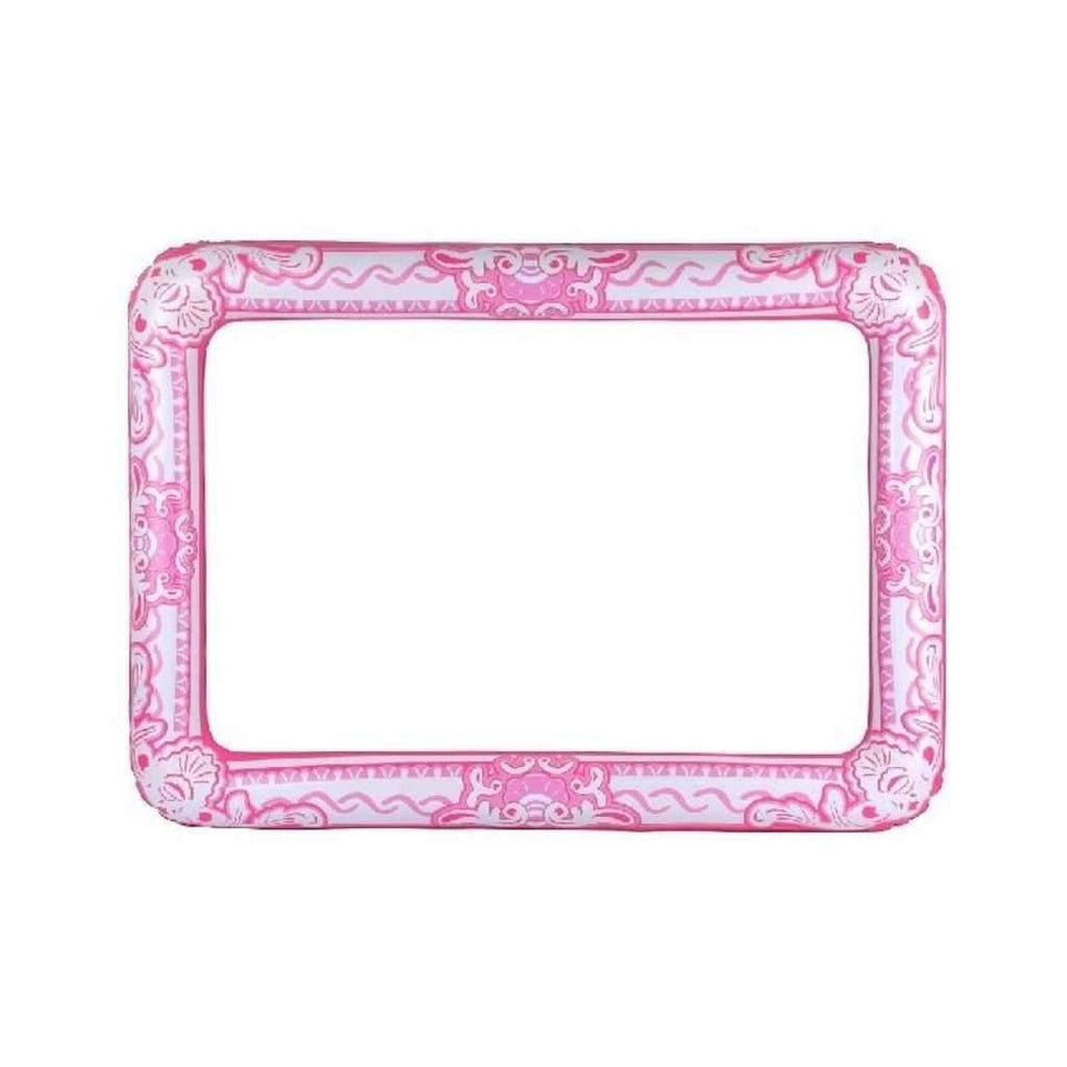 60 cm x 80cm inflatable pink frame - Party Props