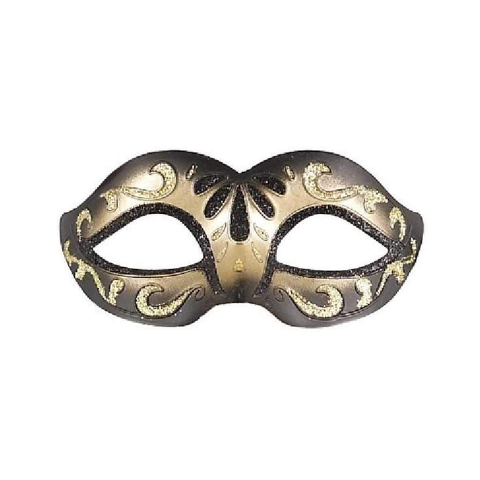 black and gold glitter eye mask - Party Props