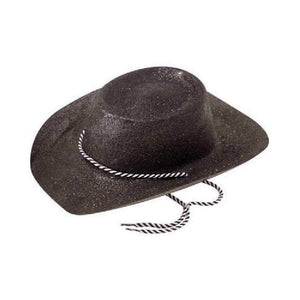 black glitter cowboy hat - Party Props