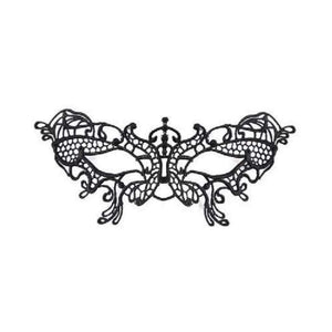 black lace butterfly eye mask - Party Props