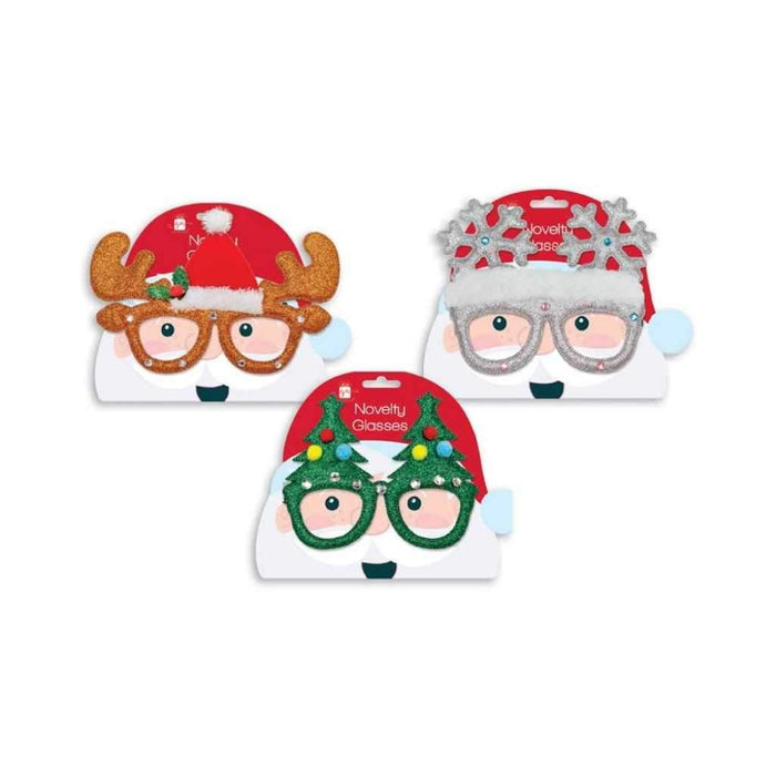 christmas glasses triple pack - Party Props