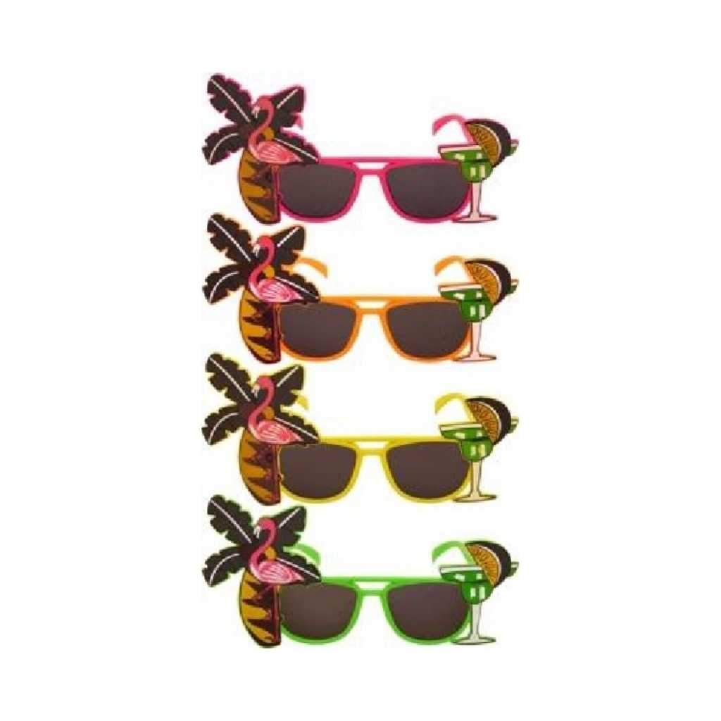 flamingo glasses neon - Party Props
