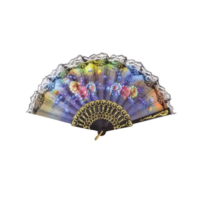 floral lace fan - Party Props