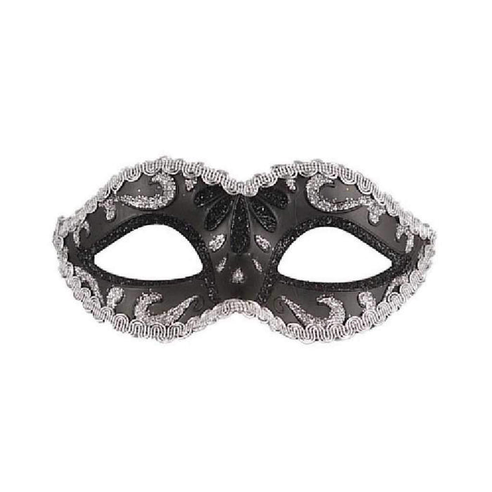 black glitter eye mask - Party Props