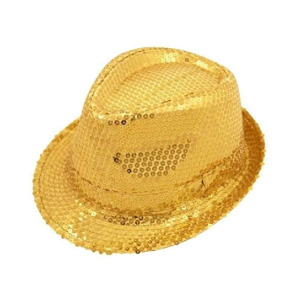 gold sequin gangster hat - Party Props