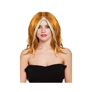 long ginger wig - Party Props