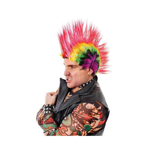 multi coloured mohican wig - Party Props