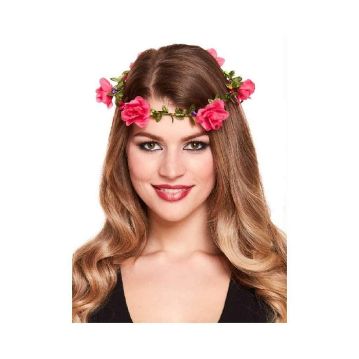 pink flower headband - Party Props