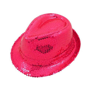 pink sequin gangster hat - Party Props