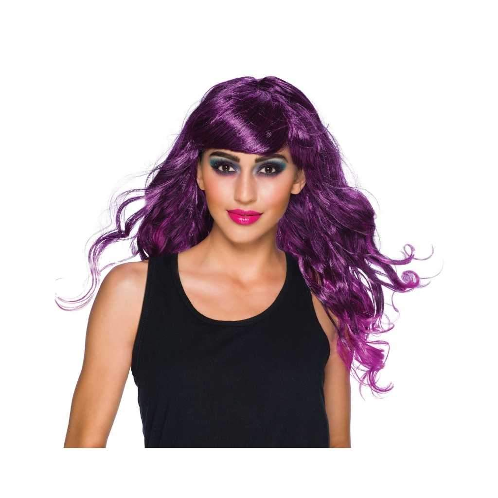 long purple wig - Party Props