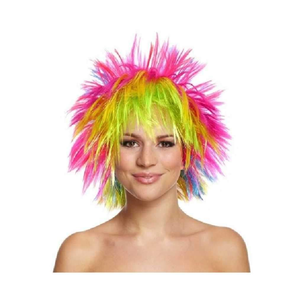 rainbow punk wig - Party Props