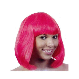 short pink wig - Party Props