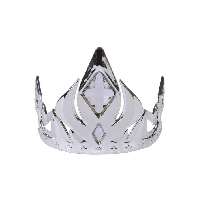 silver crown with clear stones - Party Props