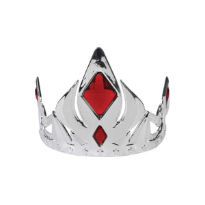 silver crown with red stones - Party Props