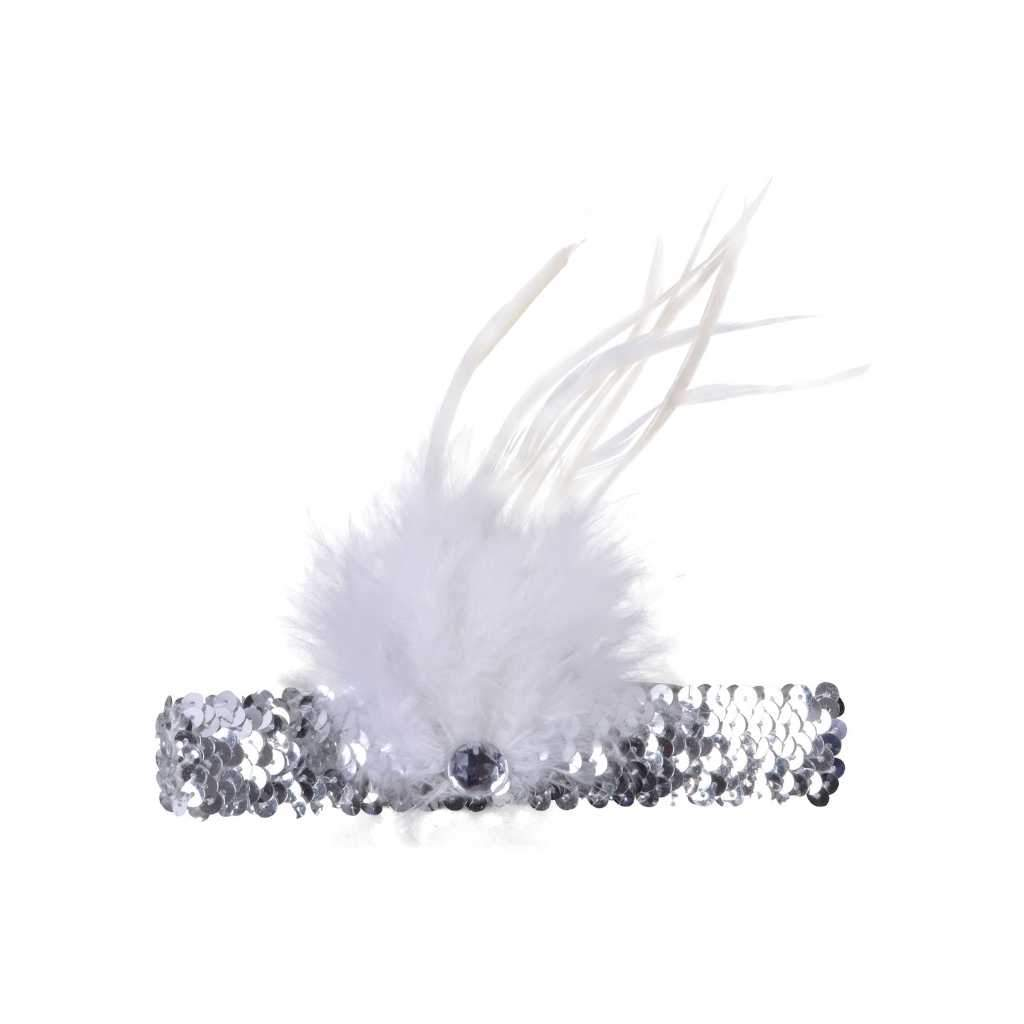 silver flapper headband - Party Props