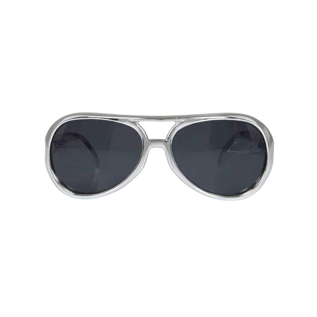 silver glasses with dark lens- Party Props