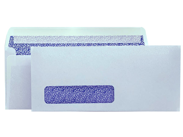 No. 10 Peel & Seal Business Envelope, Left Window, 4 1/8 X 9 1/2, Security Tinted, 24lb. White, 500/Box