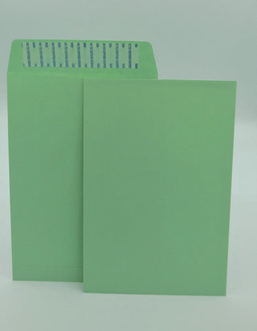 "Cashier Depot 6"" x 9"" Catalog (Open End) Envelopes, Premium 24lb. Green, Peel & Seal Flap, 500/Box"