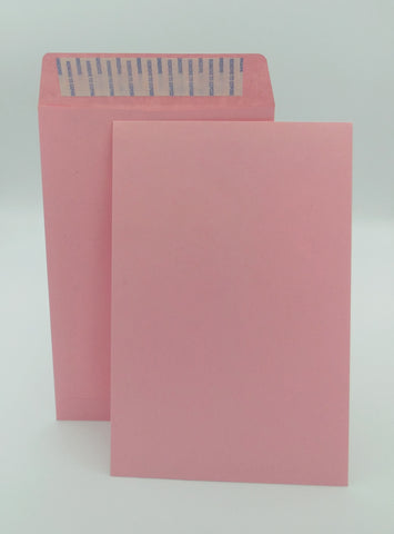"Cashier Depot 6"" x 9"" Catalog (Open End) Envelopes, Premium 24lb. Pink, Peel & Seal Flap, 500/Box"