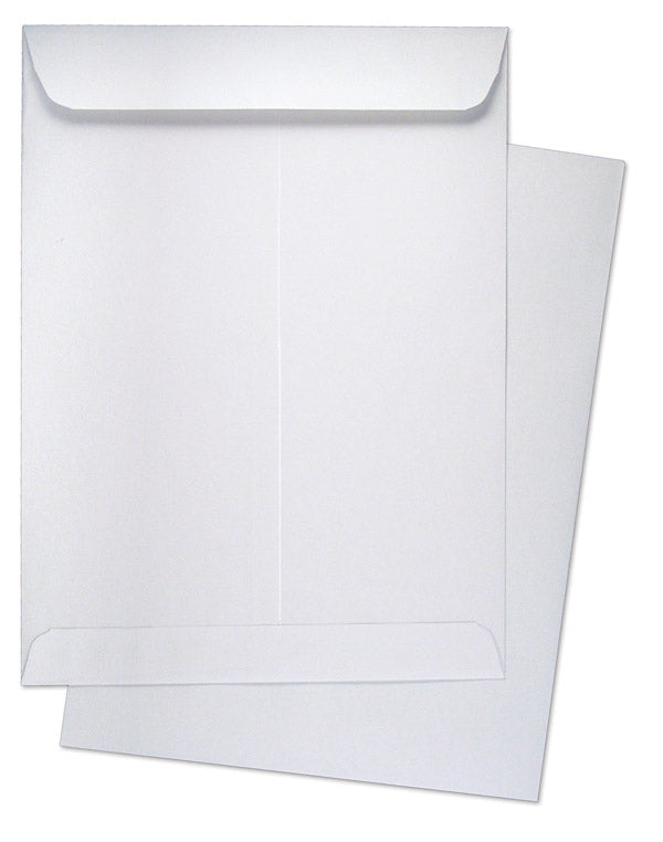"10"" x 13"" Catalog (Open End) Envelopes, Premium 28lb. White, Gum Flap, 100/Box"