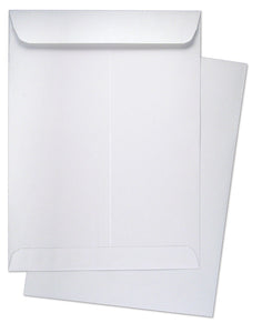 "9"" x 12"" Catalog (Open End) Envelopes, Premium 28lb. White, Gum Flap, 150/Box"