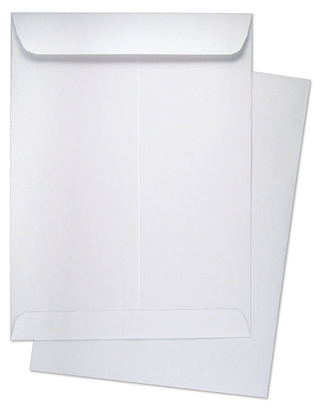 "9"" x 12"" Catalog (Open End) Envelopes, Premium 28lb. White, Gum Flap, 500/Box"