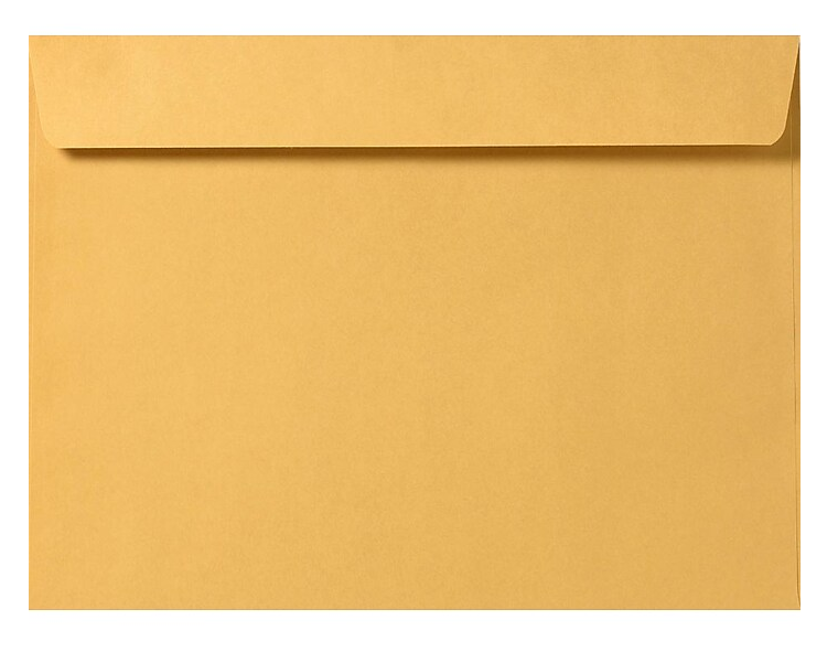 "Cashier Depot 9"" x 12"" Booklet Envelopes, Premium 28lb. Kraft, Gum Flap, 500/Box"